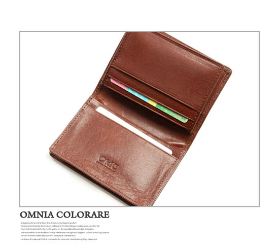 OMC - 原皮魅力真皮款4卡1照名片夾
