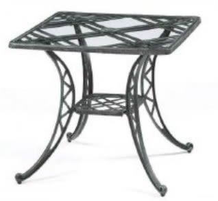 【南洋風休閒傢俱】戶外休閒桌系列-編織方玻璃桌  戶外桌 餐桌  適民宿 餐廳 咖啡廳 (#302)