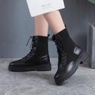 短靴 馬丁靴女英倫風夏季透氣薄款飛織春秋單靴百搭潮ins機車短靴靴子 晶彩 99免運