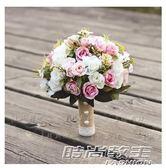 婚紗影樓攝影旅拍照道具新娘手捧花結婚照新款粉仿真韓式婚禮花束  時尚教主