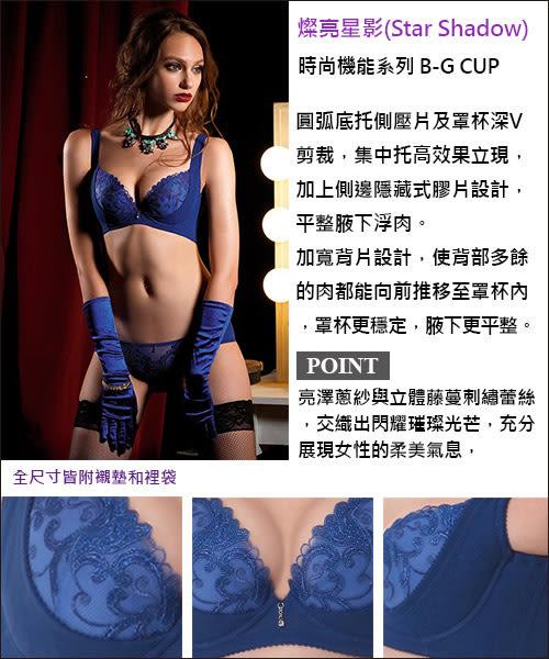 LADY 燦亮星影系列 機能調整型 B-D罩內衣(光影藍)