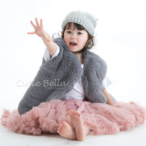 Cutie Bella蓬蓬裙Dusty Pink,90/110CM