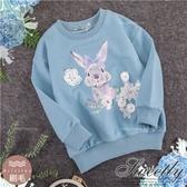 珍珠花朵蝶結兔棉質長袖上衣(厚棉,內刷毛)(300399)【水娃娃時尚童裝】