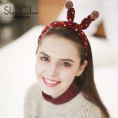 2018新款發卡波點頭箍韓國可愛圣誕節頭飾發箍發帶女成人兒童冬季