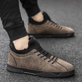 內增高男鞋 男鞋子內增高休閑運動英倫百搭板鞋黑皮鞋青少年潮鞋