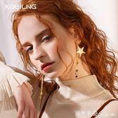 925銀針韓國時尚新款氣質簡約五角星耳墜幾何個性耳環百搭女耳飾 瑪麗蓮安