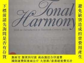 二手書博民逛書店Tonal罕見Harmony, With An Introduction To Twentieth-century
