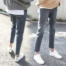 【A4008】刷舊白鬆緊腰彈力牛仔褲 XL-5XL