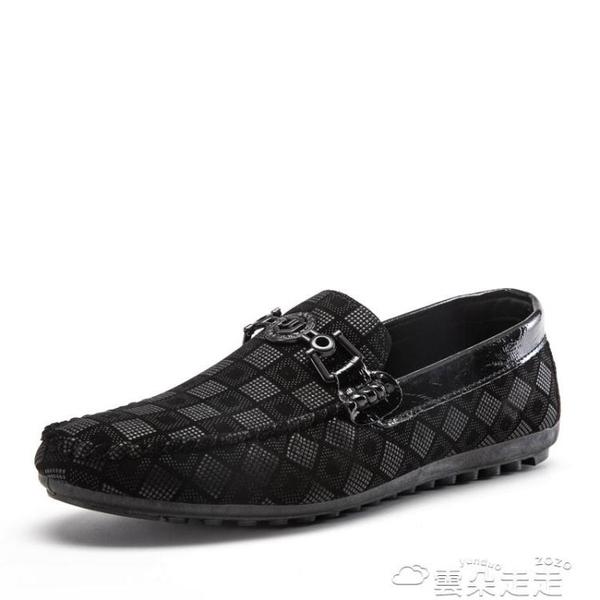 豆豆鞋2021新款鞋子潮流豆豆鞋男潮韓版秋季男士懶人鞋休閒駕車軟底皮鞋 雲朵走走