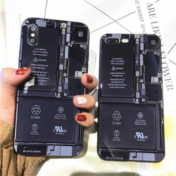 【SZ35】創意惡搞主機板玻璃殼 iPhoneX 手機殼 iphone 7/8 plus保護套 iphone6splus鋼化玻璃殼