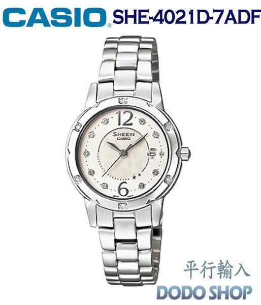 CASIO~卡西歐璀燦迷人施華洛世奇水晶腕錶