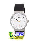 [104美國直購] Braun Men s BN0032WHBKG Classic Analog Watch w. White Display and Black Band 德國百靈 男士 腕錶 手錶
