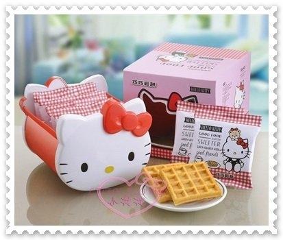 ♥小花花日本精品♥ Hello Kitty 巧巧鬆餅 巧巧鬆餅禮盒 附立體Q臉U形盒 台灣製 8包入 90301001