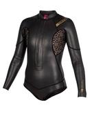 MYSTIC BLACK DIVA 前拉鍊式 皮面 防寒衣 衝浪衣 自由潛水 自潛 浮潛 網狀蕾絲 現貨XS號S號 M號