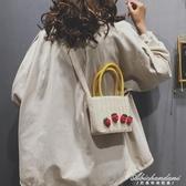 草編小包包女包新款小清新側背手提小方包編織斜背包 黛尼時尚精品