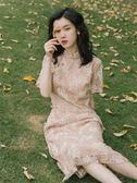 旗袍 2019新款夏維多利亞法式復古裙改良年輕款旗袍式連衣裙中國風少女 MKS霓裳細軟