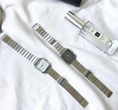 簡約氣質ins風時尚銀色複古金屬鏈條表chic文藝學生女士手表女表 極簡雜貨