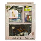 【日本KAWADA河田】Nanoblock迷你積木-積木鬧鐘+熊貓套組(黑色) NAAC-96902BK