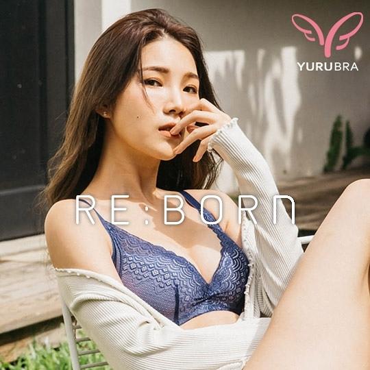 【Yurubra】美人魚嫁紗內衣。A.B.C罩 軟鋼圈 透氣 低脊心 包副乳 美背 台灣製 ※0510海藍