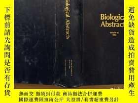 二手書博民逛書店Biological罕見abstracts 1993 volume 95 Number 11Y302069