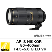 登錄送$3000 NIKON AF-S 80-400mm F4.5-5.6c G ED VR 買再送大砲雨衣、國祥公司貨