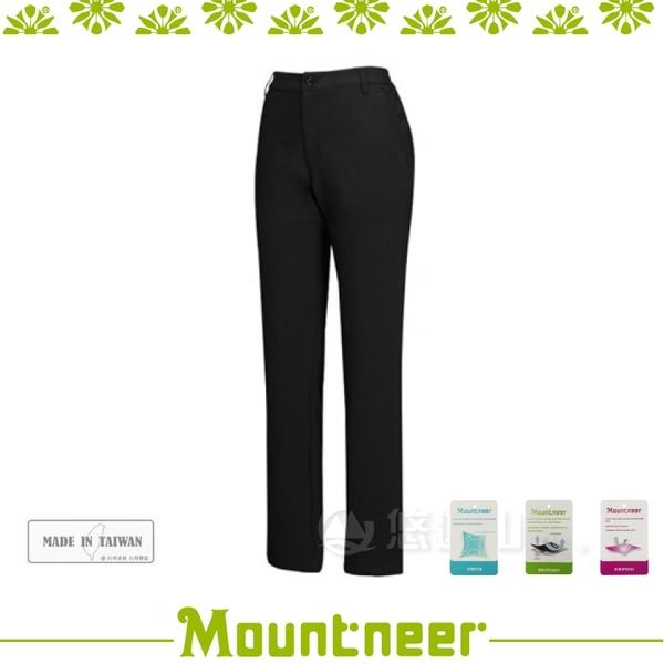 【Mountneer 山林 女 輕量三層SOFT SHELL窄管褲《黑》】22S10-01/登山/透氣快乾/禦寒/軟殼褲