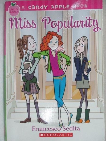 【書寶二手書T3/兒童文學_CS9】Miss Popularity_Francesco Sedita
