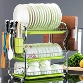碗架 三層廚房置物架兩層瀝水碗碟架放碗筷瀝水架碗架收納架子碗盤用品