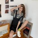 碎花連衣裙夏 夏裝2021年新款大碼胖mm炸街背帶連衣裙子女裝可鹽可甜兩件套裝春 設計師