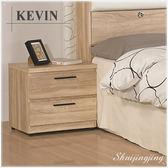 【水晶晶家具/傢俱首選】 JF8053-2凱文48×40×48公分橡木紋床頭櫃
