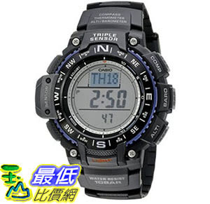 [美國直購] 手錶 Casio Mens SGW-1000-1ACR Triple Sensor Digital Display Quartz Black Watch