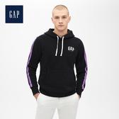 Gap男裝Jolin設計款男女同款長袖套頭連帽休閒上衣534747-正黑色
