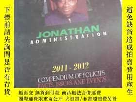 二手書博民逛書店JONATHAN罕見ADMINISTRATION 2011-2012Y270289