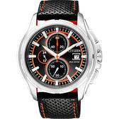 CITIZEN 星辰 OXY 光動能爭霸傳奇計時腕錶/手錶-黑 CA0270-08E
