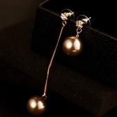 耳環 玫瑰金純銀珍珠-素雅動人生日聖誕節交換禮物女飾品2色73ca112【時尚巴黎】