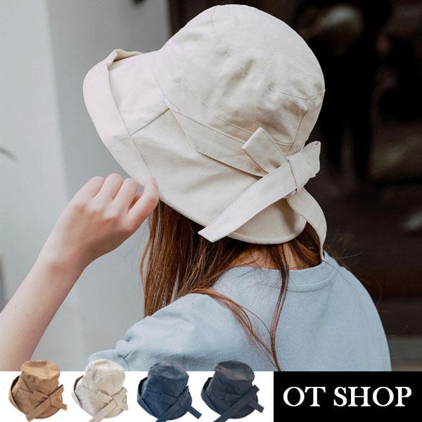 [現貨]帽子 大帽檐 蝴蝶結 帽檐軟鐵絲 棉質透氣內裡 防紫外線 盆帽 遮陽帽 穿搭配件  C2093 OT SHOP