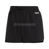adidas 短褲 D2M 3-Stripes Shorts 黑 白 女款 運動休閒 【PUMP306】 EI5541