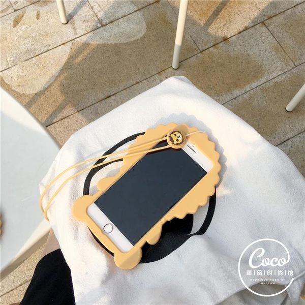 【萌萌噠】iPhone 6/6S (4.7吋) 韓國創意立體奶油獅子保護殼 全包防摔矽膠軟殼 手機殼 手機套