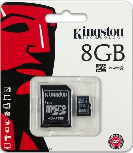 KINGSTON 8GB 8G 金士頓【C4】microSDHC microSD SDHC micro SD TF C4 Class4 手機記憶卡 記憶卡