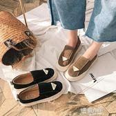 秋季新款復古森女圓頭娃娃鞋平底休閒軟底單鞋女套腳丑萌鞋   9號潮人館