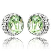 水晶耳環 925純銀耳針式-鑲鑽閃亮生日情人節禮物女飾品4色73bd180【時尚巴黎】