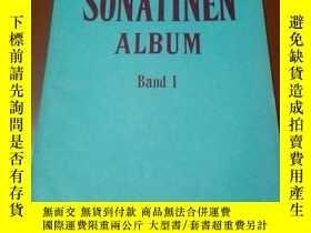 二手書博民逛書店老音樂曲譜罕見; SONATINEN ALBUM(1)鋼琴小奏鳴