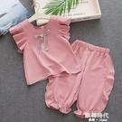 女童夏季套裝女寶寶衣服韓版T恤短褲中小童飛飛袖兩件套 歐韓時代