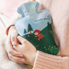 小紅帽卡通印花熱水袋 注水式  防漏 沖水 暖手袋 便攜 PVC 暖暖包【P619】米菈生活館
