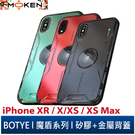 【默肯國際】BOTYE 魔盾系列 XR / X/XS / XS Max 單底背蓋 金屬殼 全包防摔 矽膠軟邊 手機殼