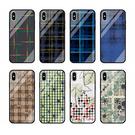 SamSung Note 10 Plus手機套 S8/S9/N8/N9三星保護套 S10/S10e/S10 Plus保護殼 三星Note10簡約格子手機殼