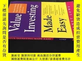 二手書博民逛書店Value罕見Investing Made EasyY12153
