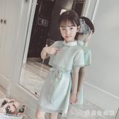 女童旗袍 夏裝新款兒童夏季中國風女大童公主裙 AW3266『愛尚生活館』