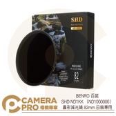 ◎相機專家◎ 排單預購 BENRO 百諾 SHD ND1KK ND1000000 圓形減光鏡 82mm 日蝕專用 減20檔 公司貨