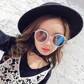 兒童眼鏡墨鏡男童女童太陽鏡潮小孩眼鏡防紫外線可愛公主寶寶墨鏡【米蘭街頭】